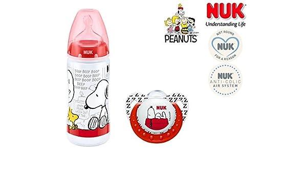 NUK chupete la botella Peanuts - 1 x Chupete anatómica ...