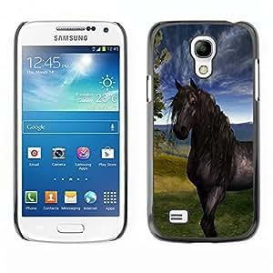 TECHCASE**Cubierta de la caja de protección la piel dura para el ** Samsung Galaxy S4 Mini i9190 MINI VERSION! ** Horse Sky Mustang Stallion Nature Painting