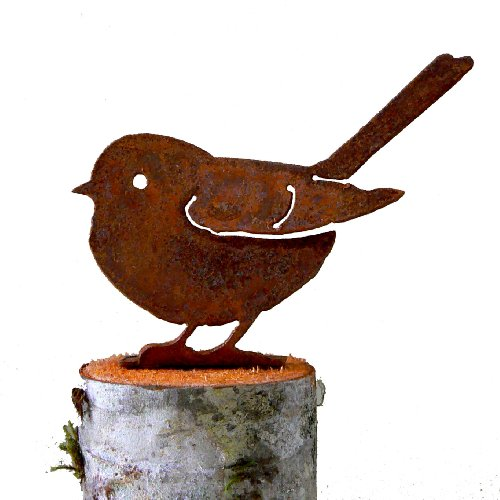 Chubby Chickadee Rusty Garden Sculpture