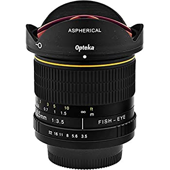 Opteka 6.5mm F3.5 Hd Aspherical Fisheye Lens & Removable Hood For Canon Eos 80d, 77d, 70d, 60d, 60da, 50d, 7d, T7i, T7s, T7, T6s, T6i, T6, T5i, T5, Sl2 & Sl1 Digital Slr Cameras 2