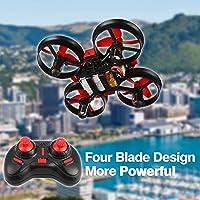 LeaningTech NH010 Mini UFO Quadcopter Drone 2.4G 4CH 6 Axis Headless Mode Remote Control Nano Quadcopter UFO RTF (Red)