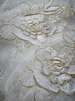 YuRongsxt Wedding Rose Stretch Garters Set For Bride Bridal Lace Garter G44