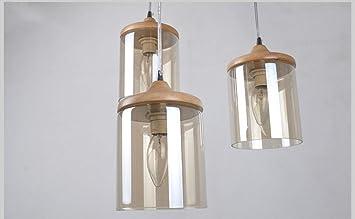 Yunguang moderno vetro creativo a 3 cilindri lampadari a led retro