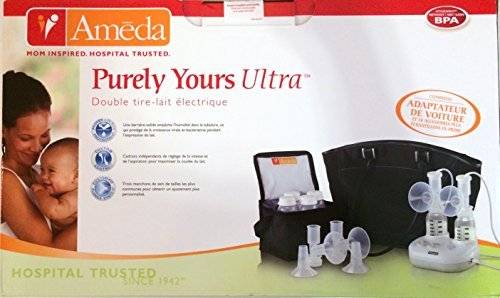 Ameda Purely Yours Ultra Double Electric Breast Pump with Car Adaptor & 16 Acessories by Ameda
