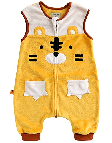 Vaenait baby 1-7Y Ultra Soft Plush Fleece Kids Boys Wearable Blanket Sleeper MIU Tiger L (Sleeper Tiger)