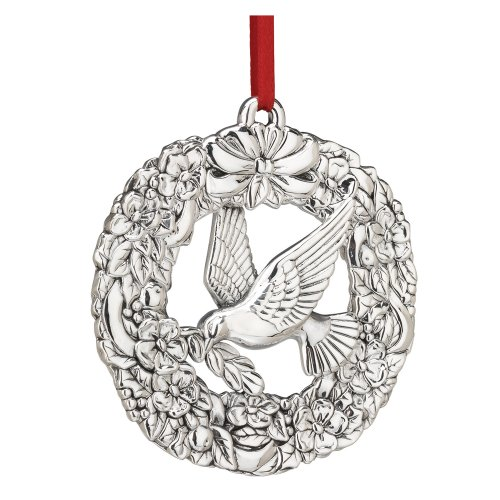 Reed & Barton Williamsburg Sterling Silver Wreath with Dove (Williamsburg Christmas Wreaths)
