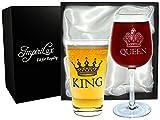Best Parents Gifts - King Beer & Queen Wine Glass Set | Review