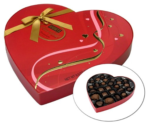 Hersheys Pot Of Gold Assorted Milk And Dark Chocolate Premium Collection  Valentines Heart Box  8 9 Ounce Box