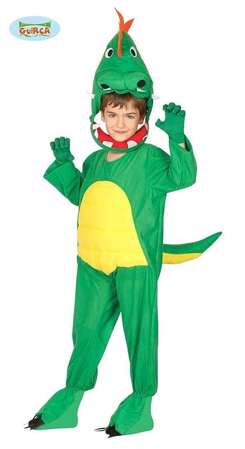 Guirca-83236 Disfraz 3-4 años Dinosaurio, Color Verde/Amarillo ...