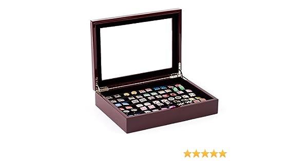 Cuff-Daddy - Caja para gemelos (capacidad para 36 pares, madera de ...