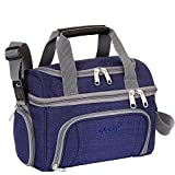 eBags Crew Cooler JR. - Soft Sided Insulated Lunchbox - For Work, Travel & Weekends - (Brushed Indigo)