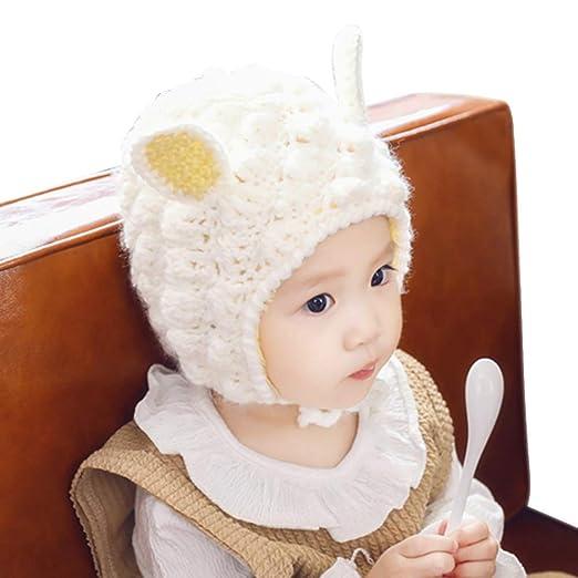 Amazon.com  IMLECK Baby Cute Lamb Shape Warm Furry Hat  Clothing aa5b6bf2923