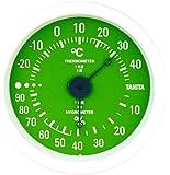 タニタ アナログ温湿度計 掛けタイプ/フック穴付 グリーン TT-515-GR