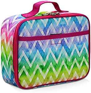 Rainbow Lunch Box for Boys, Girls by Fenrici, Perfect for Primary, Secondary School Students, Soft Sided Compartments, Spacious, Insulated, Food Safe, 25.4 cm x 19.1 cm x 7.6 cm, Support A Great Cause