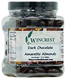 Dark Chocolate Amaretto Almonds - 1.5 Lb Tub