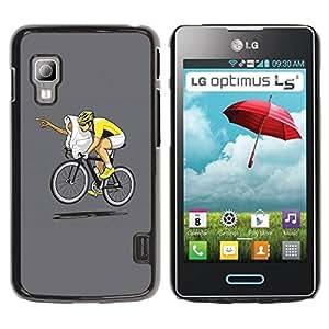 Carcasa Funda Prima Delgada SLIM Casa Case Bandera Cover Shell para LG Optimus L5 II Dual E455 E460 / Business Style Funny E.T Bicycle Race
