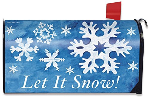 (Briarwood Lane Let It Snow! Winter Large Magnetic Mailbox Cover Snowflakes)
