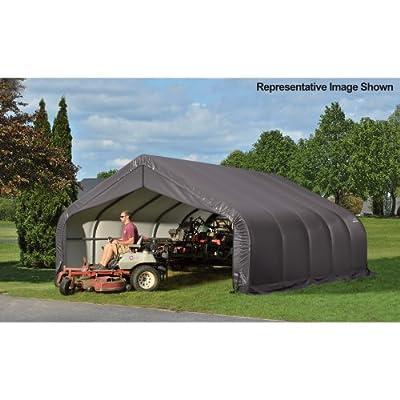 ShelterLogic Peak Style Garage/Storage Shelter - Gray, 20ft.L x 18ft.W x 12ft.H, 2 3/8in. Frame, Model# 80016