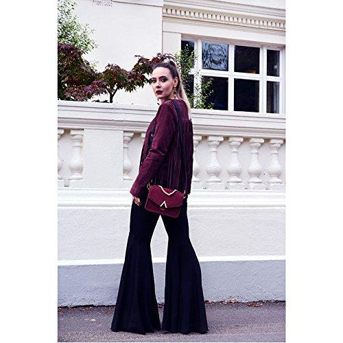 Body bandoulière Femme Cross 'Ida' Top LaBante Messenger poignée Fashion sac Bordeaux Travel 1xzIdd6w