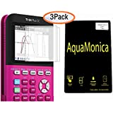 AquaMonica Transparent Screen Protector Film for TI-84 Plus CE Color Edition Graphing Calculator Pack of 3