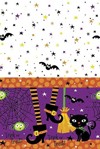 Spooky Boots (Plastic Spooky Boots Halloween Tablecloth, 7ft x 4.5ft by Unique Party)
