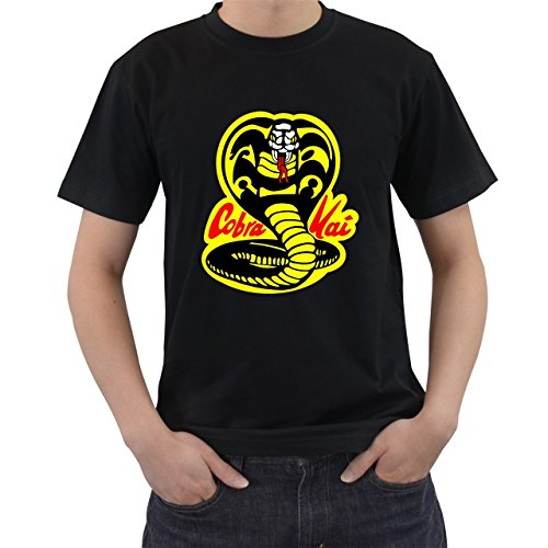Avatar The Last Airbender Halloween Costumes For Adults - Cobra Kai Karate Kid Movie T-Shirt Short Sleeve By Saink Black Size S