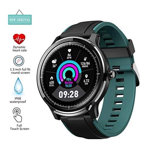chollos oferta descuentos barato EUMI SmartWatch Reloj Inteligente IP68 Varias Interfaces Definidas Información Meteorológica Oxígeno en Sangre Ejercicios Respiratorios Medición de brazadas 8 Modalidades de Deporte para Andriod iOS