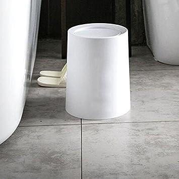 LVAB Mülleimer Push Top Cover Kunststoff Küche Badezimmer Schlafzimmer Mülleimer