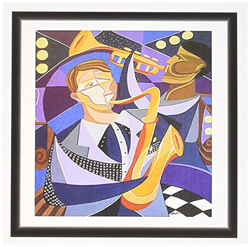 3dRose Photo Of Art Deco Sax Player - Greeting Cards, 6 x 6 inches, set of 6 (gc_100419_1)
