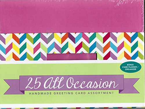 Paper Magic All Occasion Handmade Greeting Card Assortment in Keepsake Organizer Box, 25 Cards