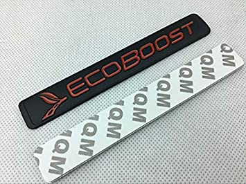Red Black 2x 3D Metal Ecoboost Emblem Allloy Right Left Door Badge Sticker Nameplate Replacement for Ecoboost