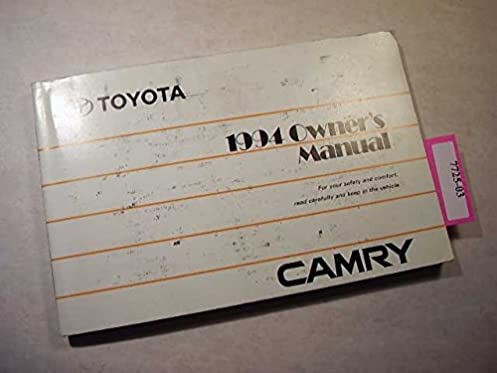 amazon com 1994 toyota camry owners manual toyota books rh amazon com 1994 toyota camry owners manual online 1994 toyota camry xle v6 owners manual
