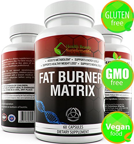 *Fat Burner Matrix * Gluten Free,Non-GMO,Vegan Friendly, Top Weight Loss Extracts Like Gacrinia Cambogia,Green Coffee Bean,Raspberry Ketones and Green Tea Extract by HB&S Solutions