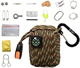 The Friendly Swede Survival Pod - 20 Accessories Emergency Paracord