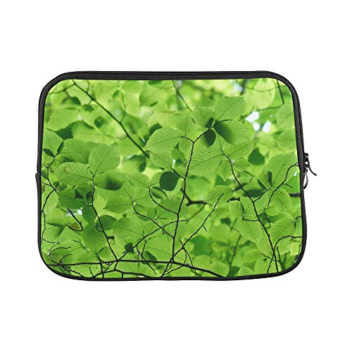 Design Custom Leaves Canopy Green Color Shades of Green Sleeve Soft Laptop Case Bag Pouch Skin for MacBook Air 11