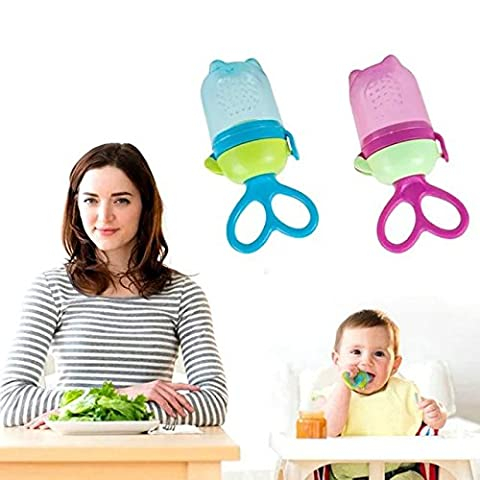 Lamsaned Non-toxic BPA Free Baby Silicone Food Feeder , Teeth Nipple Pacifier for 4+ Months Infant Baby with Mash and Serve set Prep Food Bowl For Baby Feeder