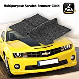 #1: [2pack] Multipurpose Scratch Remover Cloth,Car Paint Scratch Repair Cloth,Car Scratch Remover,Nano-Meter Scratch Removing Cloth Surface Repair, Scuffs Remover, Scratch Repair Strong Decontamin