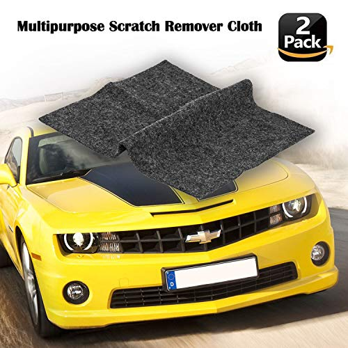 [2pack]Multipurpose Scratch Remover Cloth ,Car Paint Scratch Repair Cloth,Car Scratch Remover,Nano-meter Scratch Removing Cloth for Surface Repair, Scuffs Remover, Scratch Repair and Strong Decontamin