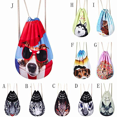 Cartoon Women's Bag iOPQO School Shoulder Backpack Travel Drawstring Unisex 2��d Bags gxgqI6C4