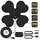 HDTV Antenna, 2019 Upgraded Indoor Digital TV Antenna 80-110 Miles Range with Amplifier