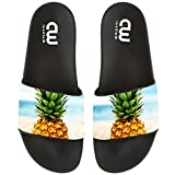 Pineapple Pattern Summer Slide Sandals For Men Women Home Beach Swim Indoor and Outdoor Slipper Shoes