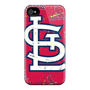 Durable Protector Case Cover With St. Louis Cardinals Hot Design For Iphone 4/4s