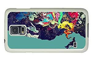 Hipster on sale Samsung Galaxy S5 Case smoking creativy PC White for Samsung S5