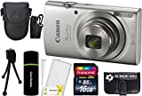 Canon PowerShot ELPH 180 20MP 8X Zoom Digital Camera (Silver) + 16GB Card + Reader + Case + Accessory Bundle Review