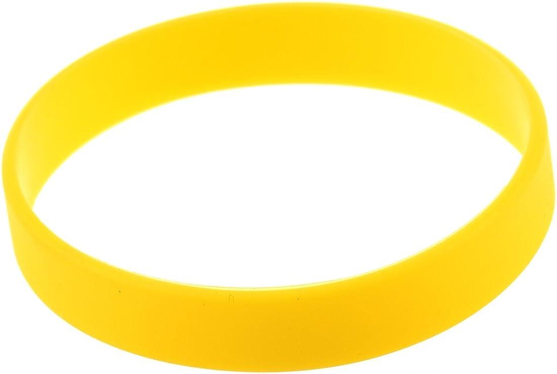 TOOGOO Brazalete de puno Munequera Pulsera de Elasticidad de Moda de Goma de Silicona Amarillo: Amazon.es: Joyería