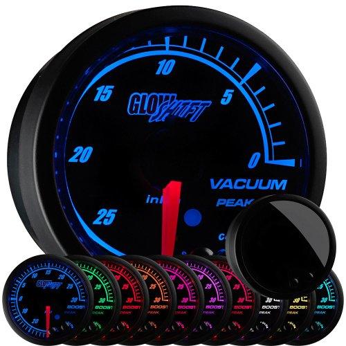 GlowShift Elite 10 Color Electronic Vacuum Gauge