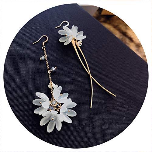 Ethnic Plant Women Dangle Earrings Shell Flower Long Tassel Dangle Earrings for Women Drops -