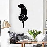 DDLBiz Creative Swing Tail Non Tick Cartoon Cute Cat Dog Wall Clock Home Decor (I)