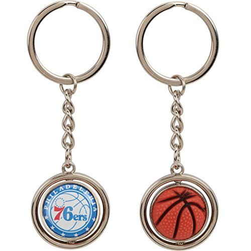 NBA Philadelphia 76ers NBA-KT-827-06 Spinning Keychain, One Size, Multicolor by aminco