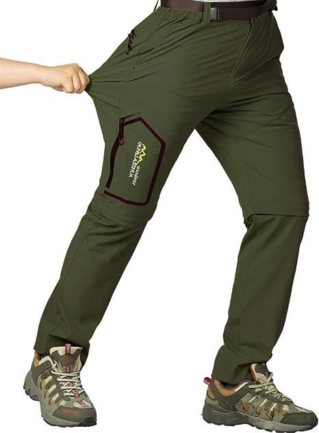 Jessie Kidden - Pantalones de senderismo para hombre al aire libre ligero de secado rápido UPF 50+ Cargo Safari Pesca escalada camping senderismo ...